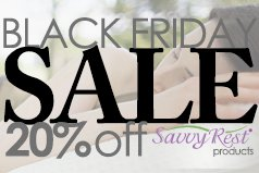 Black Friday sale at Savvy Rest