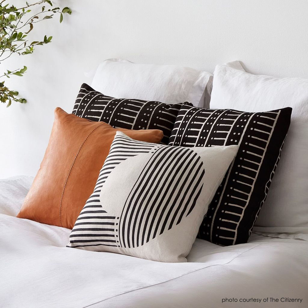 seasonal organic throw pillows