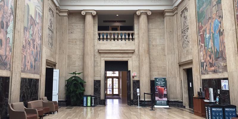 Clark library at UVA