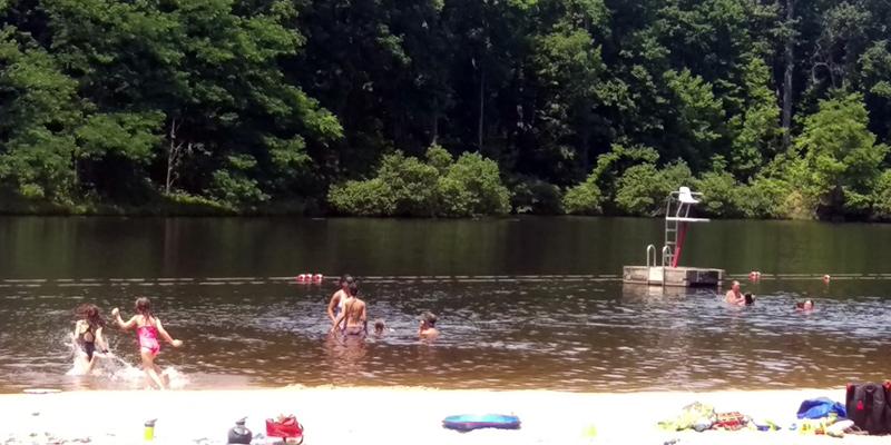 swimming at Walnut Creek Park in Charlottesville