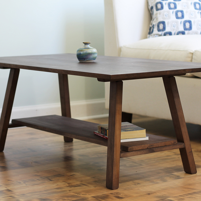 Natural Wood Coffee Table Solid Maple Hardwood Savvy Rest - How To Stain And Seal Coffee Table