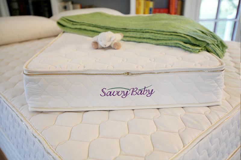 Organic crib mattress with natural latex