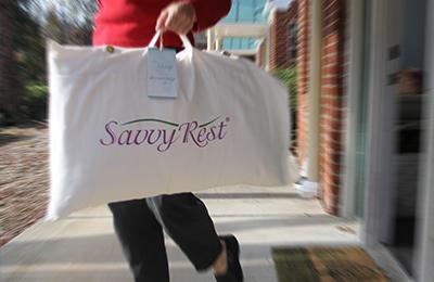 organic pillows and more at Savvy Rest Natural Bedroom
