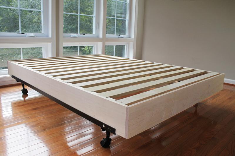 the platform bed insert an easy alternative savvy rest. Black Bedroom Furniture Sets. Home Design Ideas