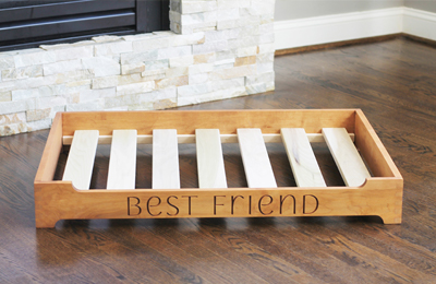 natural platform bed for dogs