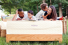 Our organic Serenity mattresses are perfect for couples (or families).