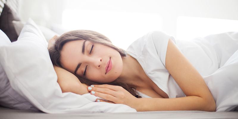 Sleeping on a mattress