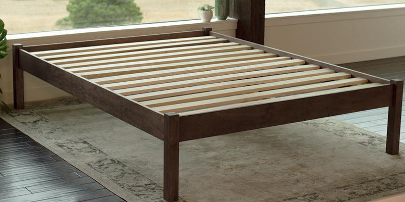 sustainably-sourced wood platform beds
