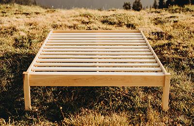 natural platform bed