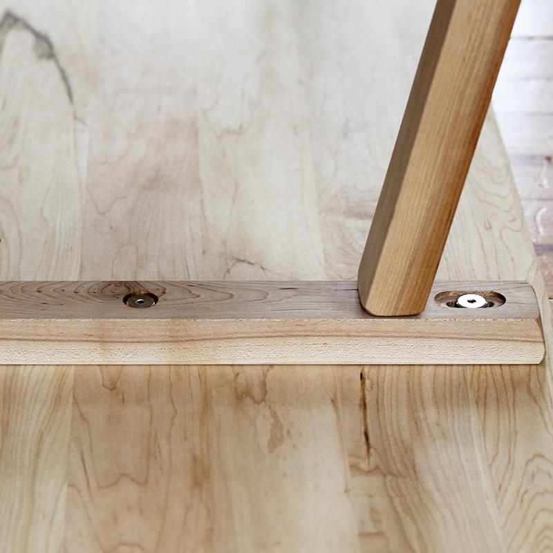 natural hardwood indoor bench