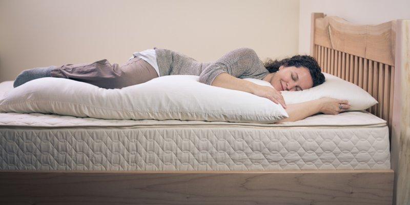 organic body pillow improves sleep