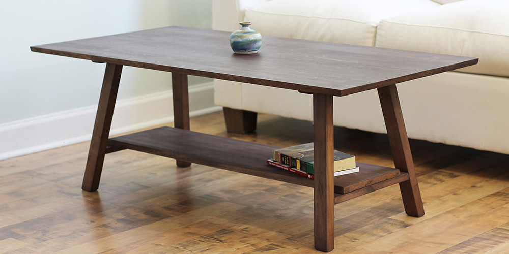 Natural Wood Coffee Table Solid Maple Hardwood Savvy Rest