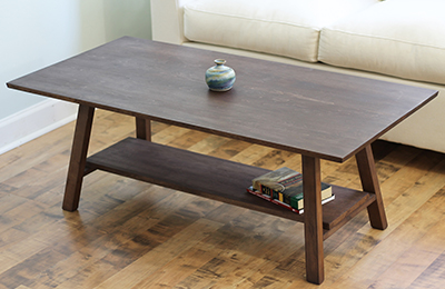 natural hardwood coffee table