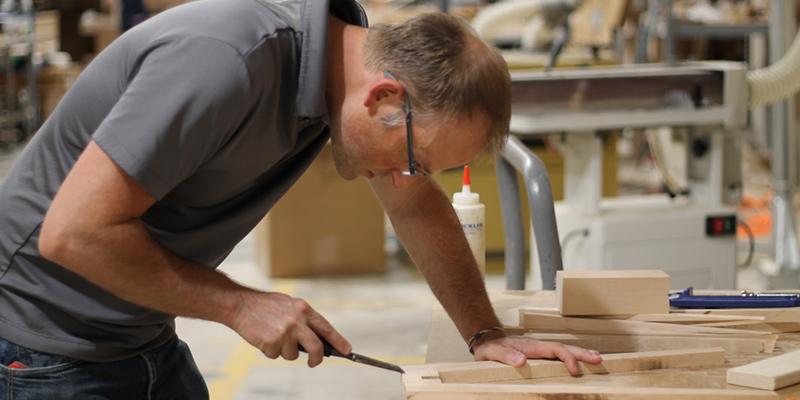 Savvy Rest's natural furniture woodshop