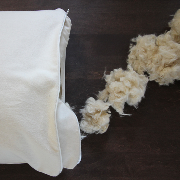 customize the amount of kapok in your organic pillow