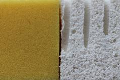 Latex and memory foam