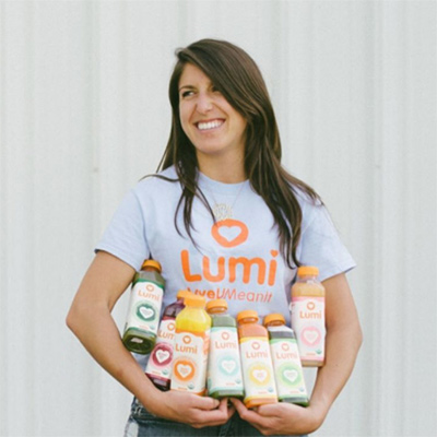 Hillary Lewis, Founder of Lumi organic juice company