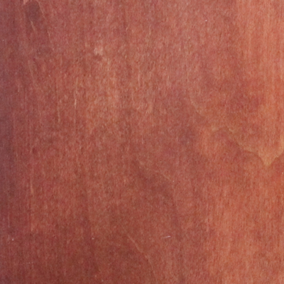 zero-VOC mahogany finish
