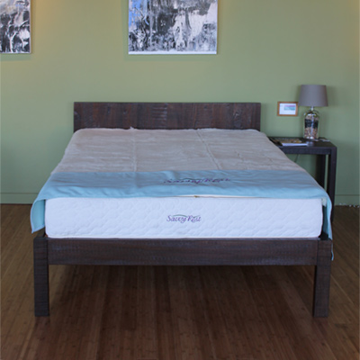 natural platforms beds at Savvy Rest Natural Bedroom Berkeley