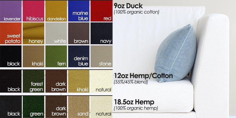 organic sofa fabric swatch