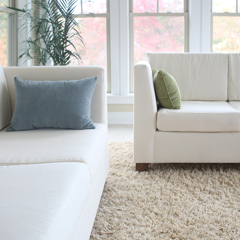 Savvy Rest organic sofas are customizable.