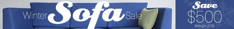 Savvy Rest organic sofa sale