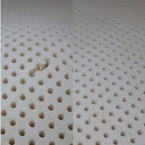 Small tear in surface (left). Laid flat (right side, same sheet).