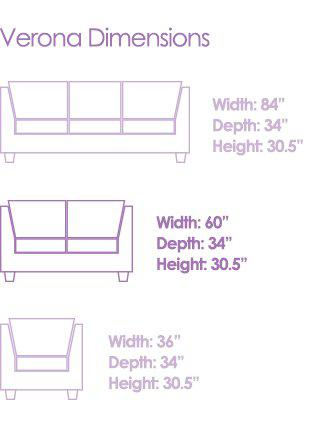 savvy rest love seat dimensions