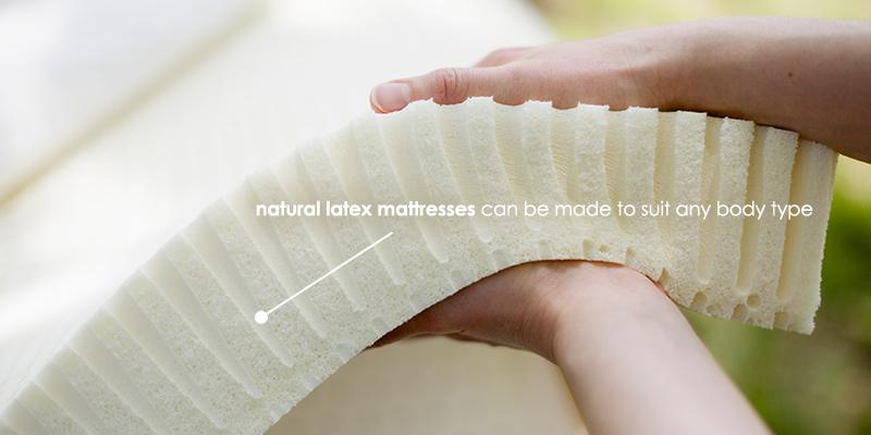 layered natural latex mattresses can suit any body type