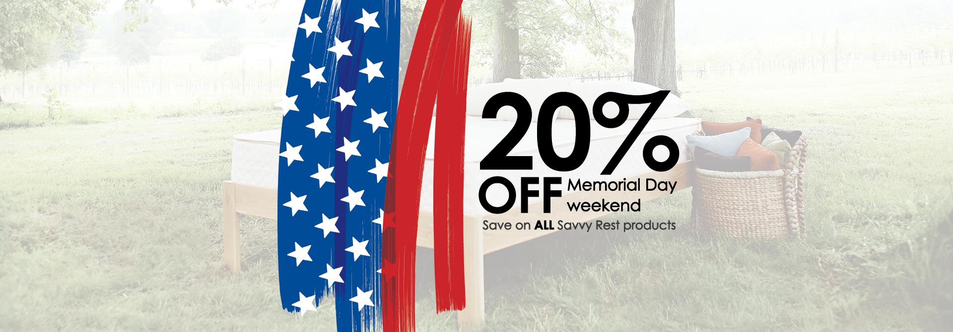 Savvy Rest Memorial Day sale