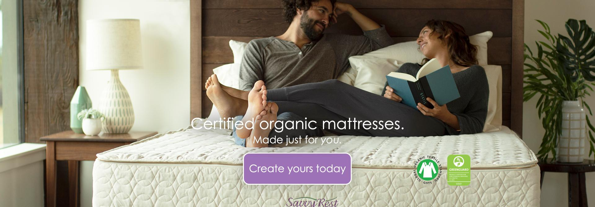 Savvy Rest organic mattresses are GOTS certified