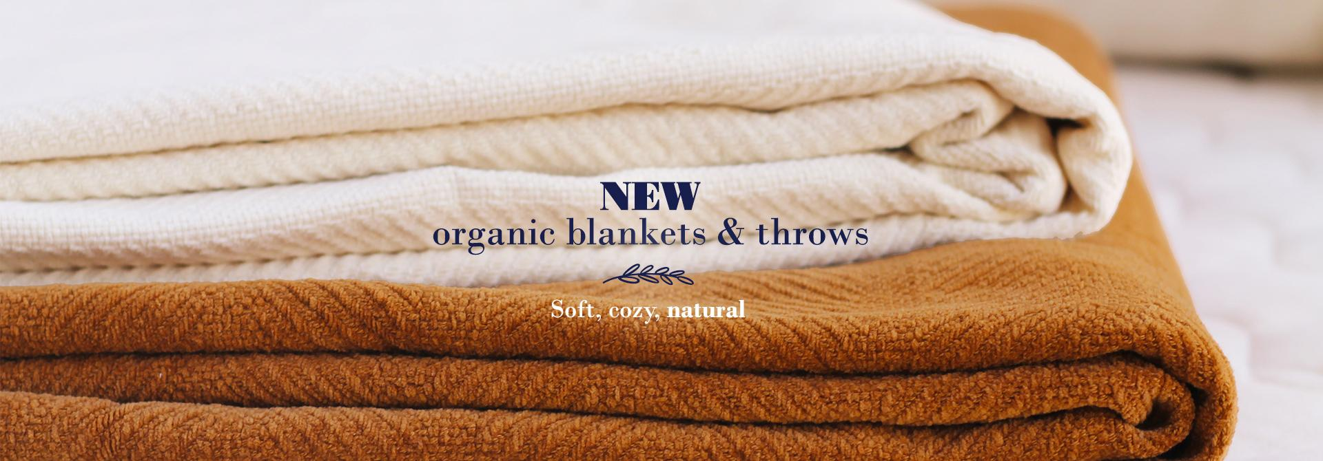 organic cotton blankets and throws