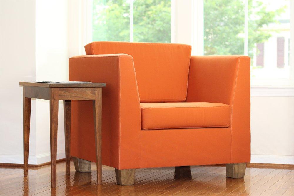 Organic latex armchair