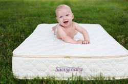 Savvy Rest organic baby mattress and accessories