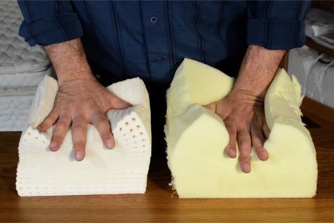 memory foam vs natural latex