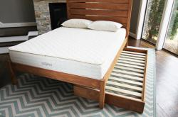 hardwood trundle bed