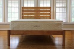 natural latex mattress with pocketed-coil springs