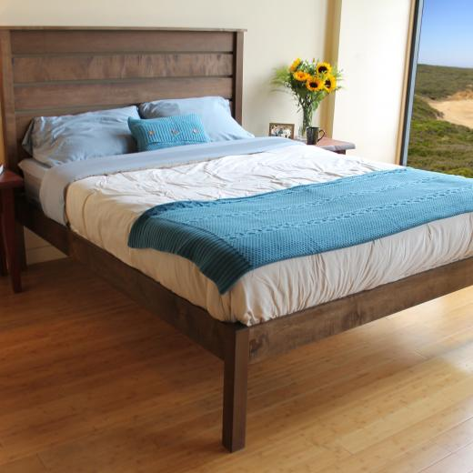 Savvy Rest Esmont platform bed with walnut stain