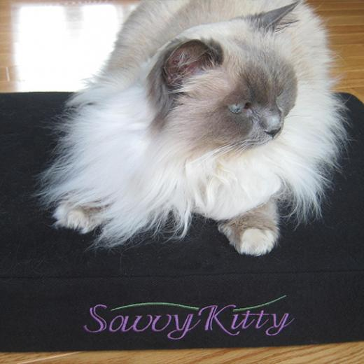 Savvy Kitty natural cat bed with organic latex