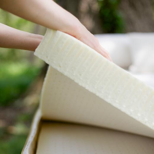 Talalay latex layer in Savvy Rest's organic mattress