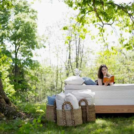 Relaxing on Savvy Rest's Unity Pillowtop mattress