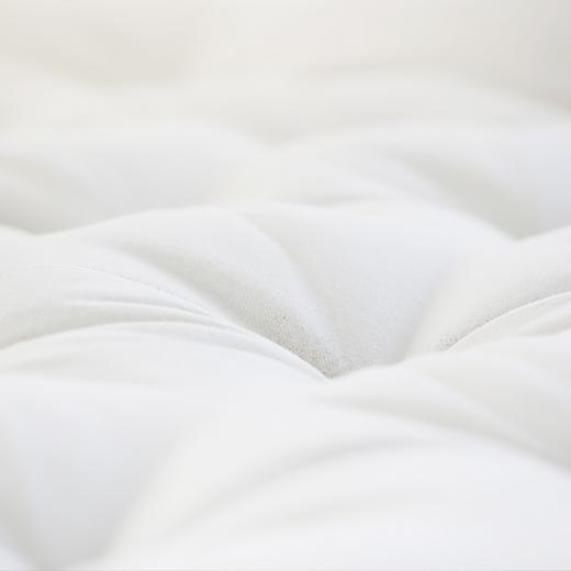 Savvy Rest's organic wool mattress, the Pastoral, is hand-tufted