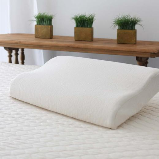 Contour pillow with medium Dunlop latex