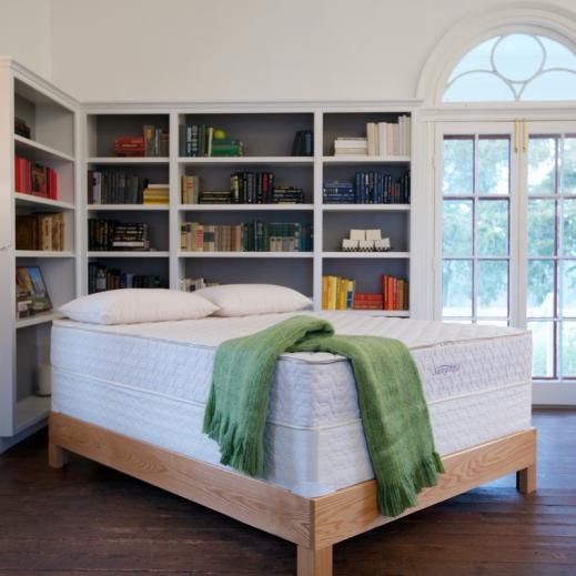 Serenity organic latex mattress with a foundation from Savvy Rest