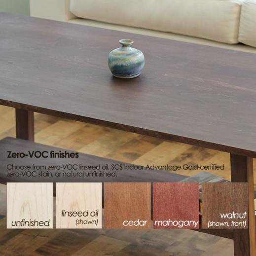 zero-VOC coffee table finishes