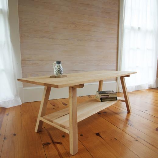 sustainably-sourced wooden bench