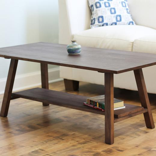 naturally-finished coffee table