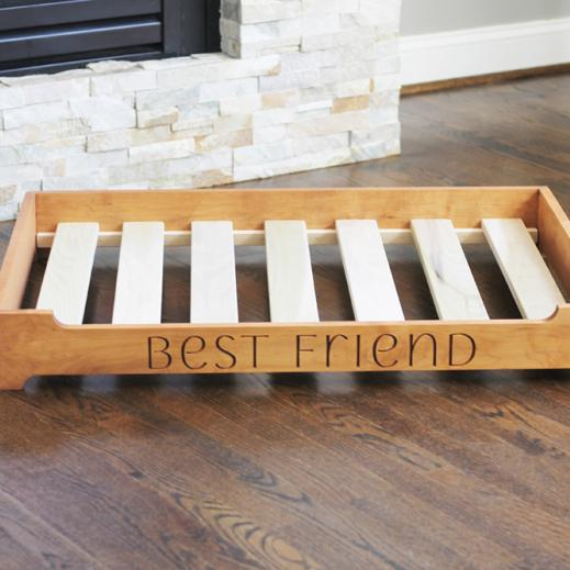 natural dog platform bed