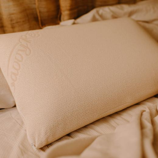 This pillow is made with natural Talalay latex and is ideal for side sleepers.