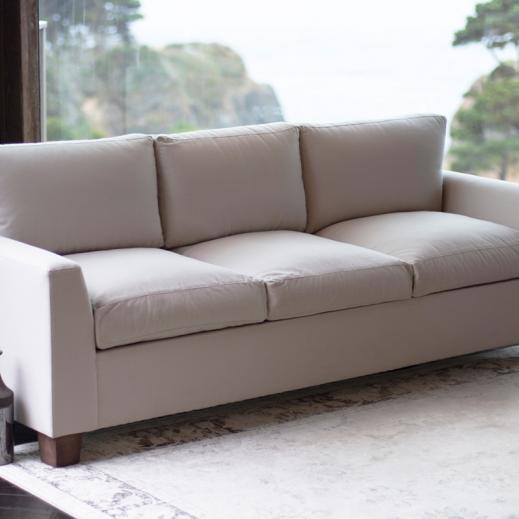 organic sofa with natural latex cushions